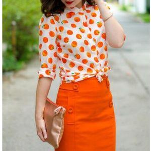 J. Crew Perfect shirt in citrus print - 0